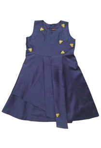 blue-embroidered-paneled-dress