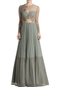 grey-anarkali-with-floral-embroidery
