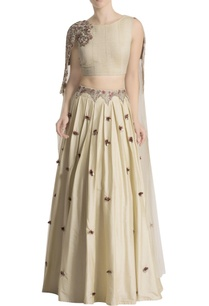 cream-skirt-set-with-attached-cape