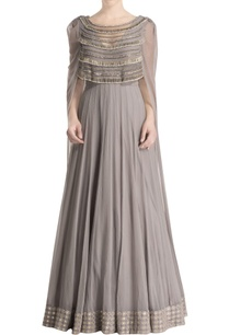 grey-anarkali-cape-with-tassels