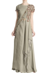 grey-draped-embroidered-jumpsuit