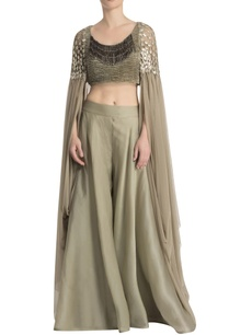 green-draped-pant-set