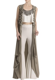 white-pant-set-with-embellished-grey-cape