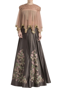 shadow-grey-dusky-pink-embroidered-skirt-set