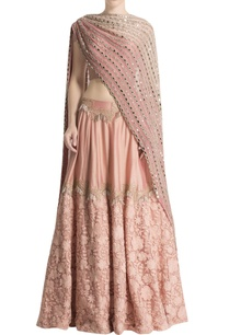 pink-embroidered-lehenga-set