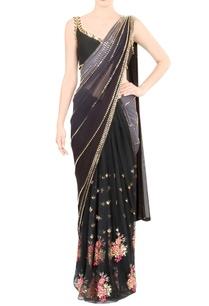 black-embroidered-sari