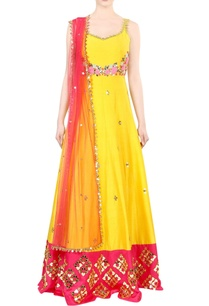 chrome-yellow-embroidered-kurta-set