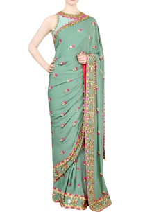 jade-green-embellished-sari-with-blouse