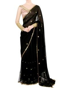 black-embellished-sari-with-blouse