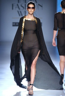 black-beige-gown-with-skein-work