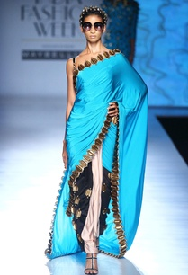 blue-black-white-skein-work-sari