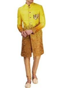 yellow-orange-embellished-sherwani