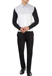 white-shirt-with-black-sleeves