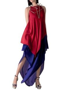 pink-blue-asymmetric-dress