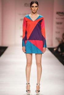 multi-colored-geometric-short-dress
