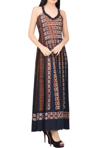 multi-colored-printed-dress-with-pleats
