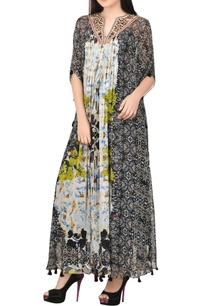 multi-colored-printed-maxi-with-balloon-sleeves