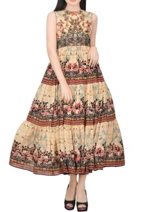 beige-printed-dress-with-bead-embroidery