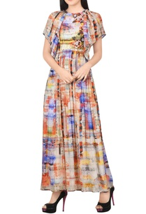 blue-orange-printed-maxi-dress