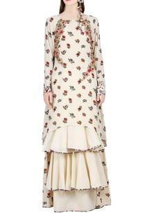 ivory-printed-tunic-tiered-skirt