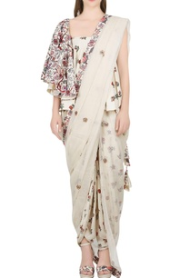 ivory-one-shoulder-blouse-with-dhoti-pants-dupatta