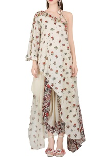 ivory-one-shoulder-tunic-dhoti-pants
