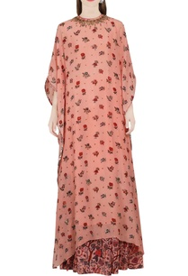 salmon-pink-kaftan-dress-with-skirt