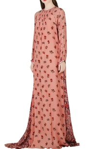 salmon-pink-printed-maxi-dress