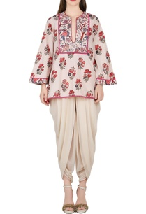 beige-printed-top-with-dhoti-pants
