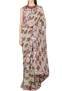 grey-printed-sari-with-ivory-blouse