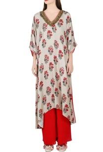 grey-printed-kimono-kurta-sharara-pants