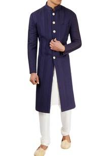 navy-blue-textured-sherwani-set