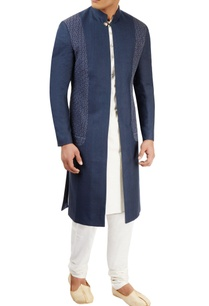 navy-blue-open-sherwani