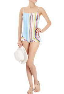 multi-coloured-striped-one-piece