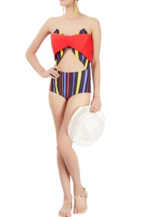 multi-coloured-strapless-one-piece-with-stripes