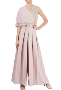 dusky-pink-pleated-jumpsuit