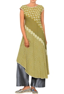 olive-block-printed-tunic