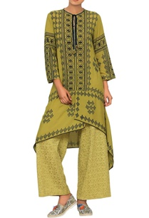 olive-green-printed-tunic