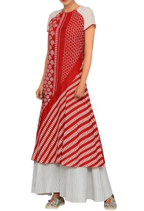 red-white-block-print-kurta