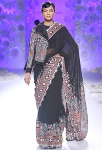 black-hand-embroidered-sari-with-jacket