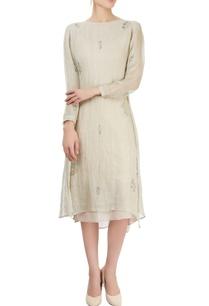 beige-block-printed-dress