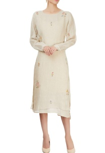 beige-hand-block-printed-dress