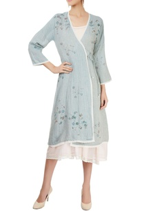 light-blue-wrap-dress-with-block-prints