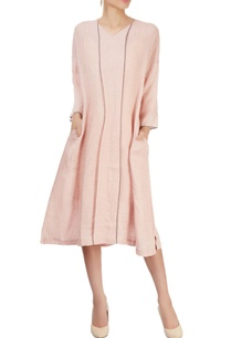 pink-midi-dress-with-panels