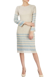 grey-striped-dress-with-pin-tucks
