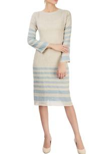 grey-striped-dress-with-pin-tucks