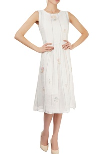 white-striped-dress-with-floral-prints