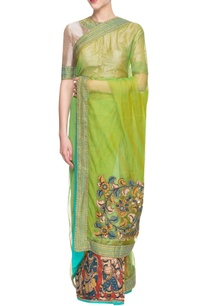 ecru-green-embroidered-sari