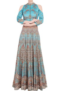 tiffany-blue-anarkali-gown-with-carpet-print