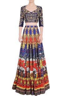 multi-colored-printed-skirt-set-with-violet-blue-top